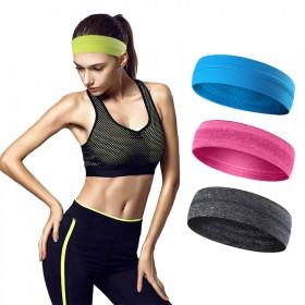 男女运动头带发带跑步健身吸汗头巾止汗带弹力透气发箍