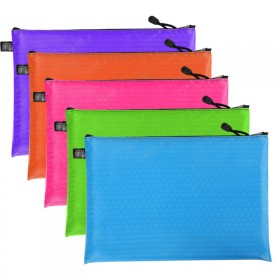 5个装A4拉链文件袋档案袋学生试卷收纳袋手提公文袋