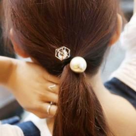 夸张珍珠水钻发圈扎头发饰品双头皮筋弹力头绳韩版发绳