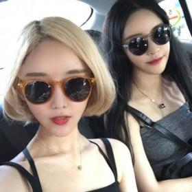 太阳眼镜新品潮牌流行橘色边框墨镜百搭2017韩国女