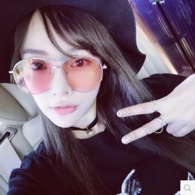 蓝色大海传说全智贤李小璐2017韩国明星款大框小脸