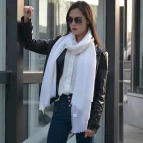 羊毛围巾女秋冬季 夏季空调房披肩两用