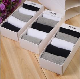 纯棉袜子中筒四季运动男袜透气防臭棉袜男士商务袜子