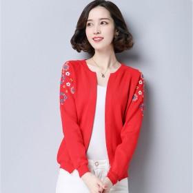 短款外套韩版宽松毛衣女士上衣打底针织开衫薄