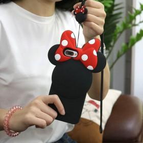背影米妮OPPOR11手机壳卡通可爱立体保护送挂绳