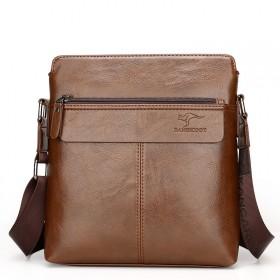 袋鼠男包单肩包牛皮男士包包真皮休闲潮背包商务公文包