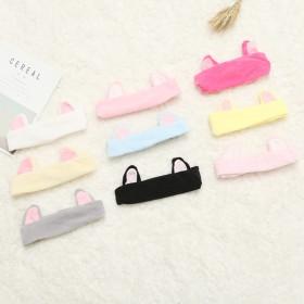 爱可饰品韩版景甜同款发带束发带猫耳朵洗漱发箍