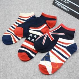 韩版商务袜男士纯棉防臭全棉商务男袜纯色低筒袜短袜