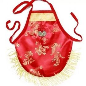 红绸缎喜庆中国结宝宝护肚兜新生儿肚兜