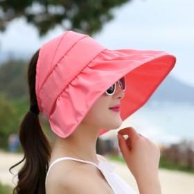 潮防紫外线帽子夏天女士女夏遮阳帽大沿沙滩太阳帽防晒