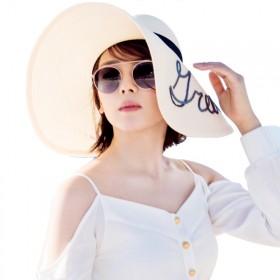 夏季新款欢乐颂2刘涛安迪同款帽子女太阳帽遮阳防晒沙