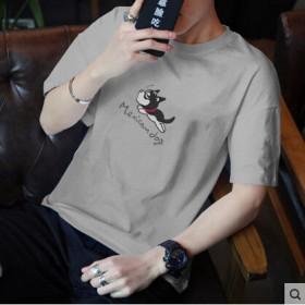 2017夏季韩版新款学生纯色圆领百搭时尚短袖T恤潮