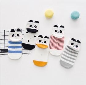2017新款儿童棉袜立体动物耳朵1-12岁春秋5双
