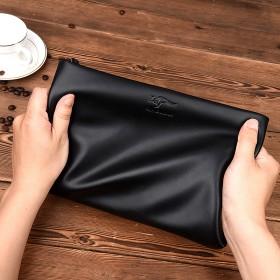 袋鼠男手包手拿皮包商务休闲时尚信封包夹潮手提包袋