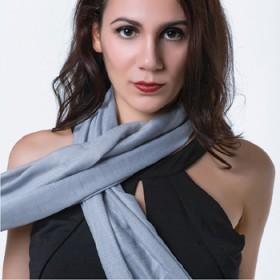 围巾女百搭扎染棉麻披肩两用超大长款薄围巾