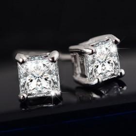 韩版气质镶钻锆石耳钉