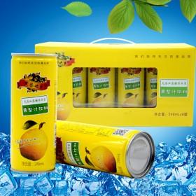 零添加无糖果肉型黄梨汁易拉罐饮料果汁礼盒装