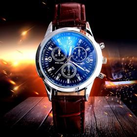 手表男士酷炫蓝光镜面超薄石英表男表