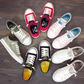 滑板鞋女原宿ulzzang小白色帆布鞋学生平底女鞋