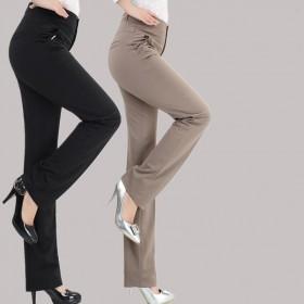 中年女装直筒休闲裤长裤春夏季薄款中老年人女裤高腰新