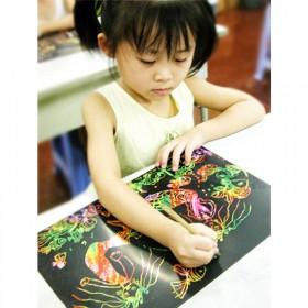 有趣好玩 创意刮画本涂鸦本 20张装关注店铺送竹笔