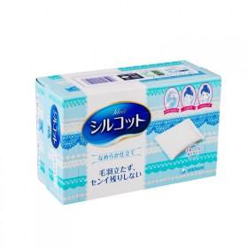 包邮日本进口尤妮佳82枚省水压边化妆棉超柔软两层