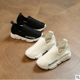 儿童袜鞋男女童休闲运动鞋针织透气网鞋松紧浅亲子鞋