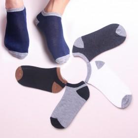 5双装夏季薄款船袜透气防臭低帮浅口短筒男短袜子吸汗