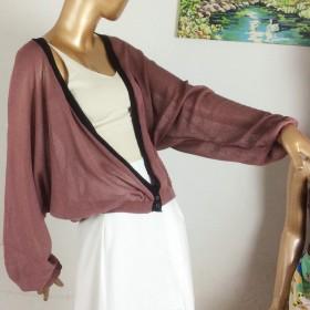 女士冰丝针织衫小外套女短款夏2017新款超薄外搭