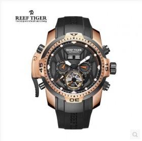 瑞夫泰格男表机械表镂空大表盘强夜光时尚男士手表