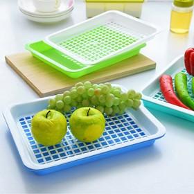 双层沥水盘子茶杯托盘时尚家用水果盘