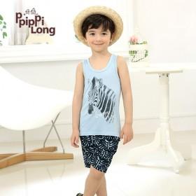 韩国进口PpipPiLong童装夏装纯棉卡通套装