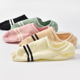 船袜女五双装隐形夏季纯棉硅胶防滑低帮浅口单鞋纯色韩