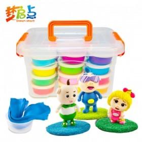 【24色收纳盒装】超轻粘土橡皮泥套装玩具