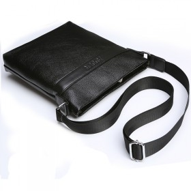新款男包竖款单肩包男士公文包休闲背包商务手提潮软皮