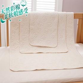 婴儿隔尿垫 天然彩棉快速吸水