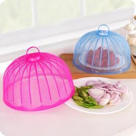 3个圆形迷你食物罩子防蝇蚊饭菜罩餐桌防尘罩