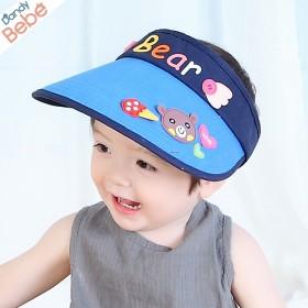 夏韩国男女儿童空顶帽子大檐遮阳帽宝宝防晒空顶帽防紫