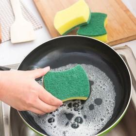 12片装百洁布洗碗布刷锅洗碗海绵神器厨房海绵擦不沾