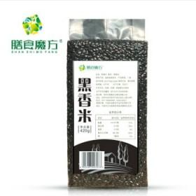 无染色黑香米农家自产黑糯米黑米仁黑米粥五谷杂粮