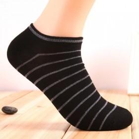 6双装袜子男士船袜条纹短袜男袜棉袜隐形袜浅口夏薄款