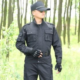 黑色作训服男套装保安特警作战工作服上衣加裤子