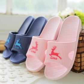 夏季家居室内拖鞋洗澡防滑厚底塑料可爱卡通凉拖鞋