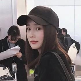 棒球帽女韩版纯色百搭光板基本款