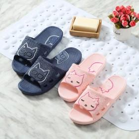 夏天室内防滑洗澡居家浴室厚底情侣塑料家用地板拖鞋