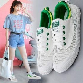 网面透气小白鞋女韩版时尚百搭2017夏季新款学生鞋
