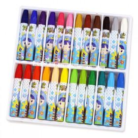 油画棒24色包邮儿童画画彩色蜡笔学生美术绘画用品幼