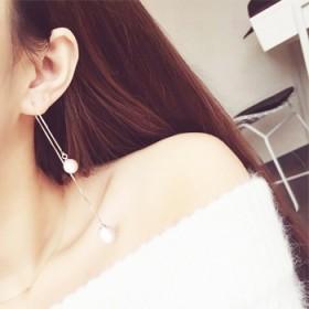 耳坠珍珠仙气纯银耳环长款流苏耳线韩国气质吊坠