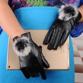 兔毛触屏手套收藏五分带字好评再返1元