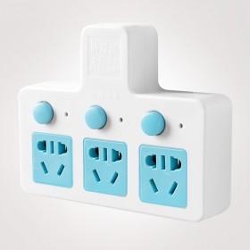 防雷插座转换器转换插头一转三独立开关多用功能排插线